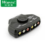 Vojintai AV switcher audio and video distributor two in one out two in one out one out two AV converter