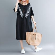 220斤大码连衣裙遮肚子显瘦胖mm夏装韩版时尚减龄宽松中长款洋气