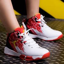 秋款男童学生运动鞋高帮皮面防水防臭春季篮球跑步休闲