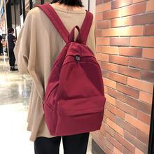 代购日系书包 古着少女纯色双肩包2019新款韩版ins大容量学生背包
