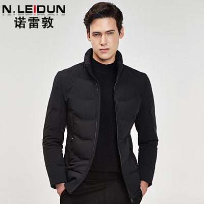 诺雷敦2018新款冬季立领商务休闲羽绒服男短款加厚修身款保暖外套