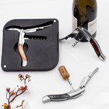 Italian import Legnoart home stainless steel red wine opener multi-functional wooden handle seahorse knife