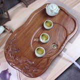Specially promote the whole piece of pear wood tea plate solid wood tea sea ebony tea pool redwood tea table set kung fu tea set tea torify