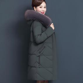妈妈冬装外套中老年棉衣女装羽绒服妈妈款洋气棉服大码中长棉袄女