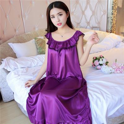 女士睡裙夏季无袖雪纺加肥大码胖MM孕妇宽松女性感冰丝睡衣中长款