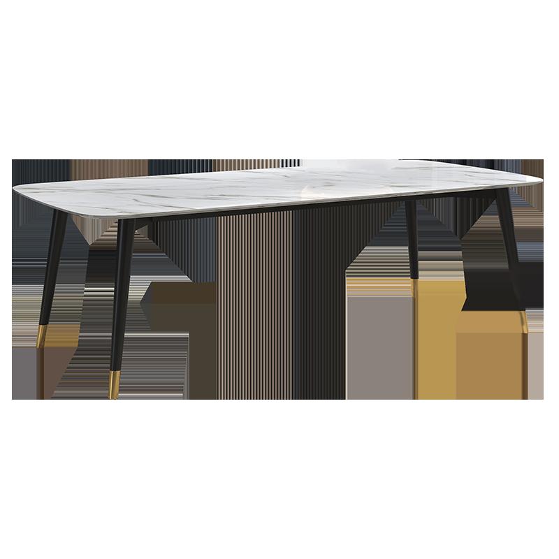 北欧大理石餐桌椅组合长方形现代简约饭桌小户型家用轻奢实木餐台