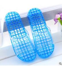9270f1a9c760b Bathroom slippers men and women summer indoor non-slip home slippers bath  leaking transparent plastic
