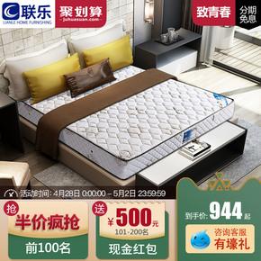 联乐床垫弹簧椰棕软硬两用可定做席梦思1.5m1.8米护脊棕垫致青春