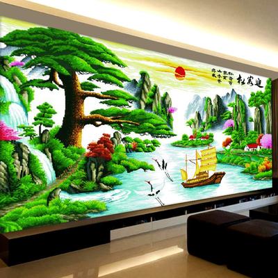 客厅十字绣大幅风景画品牌巨惠