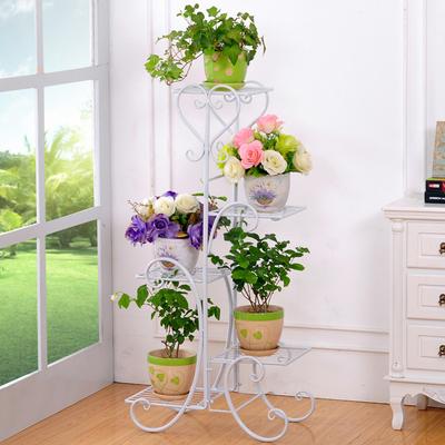 铁艺花架落地式花盆架欧式时尚车型客厅阳台室内外多层花几花架子