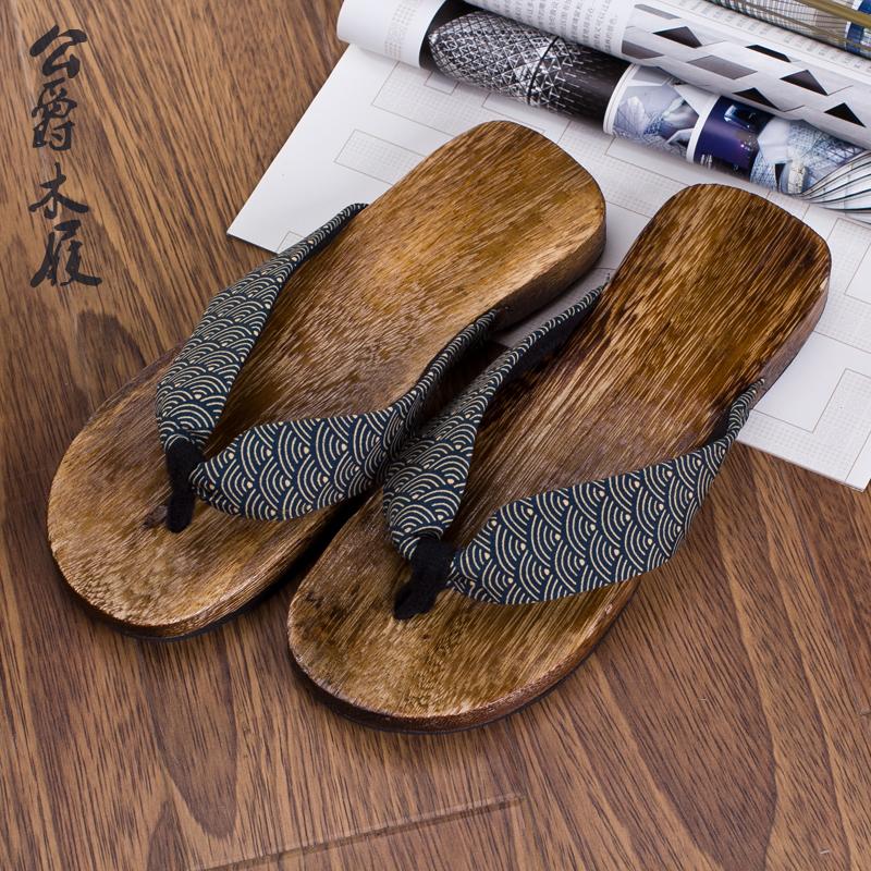 木板拖鞋 男人字拖 木屐拖鞋 日本拖鞋 沙滩鞋男木屐人字拖木板鞋