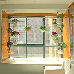 创意简约现代多层铁艺客厅窗台悬挂式花架室内飘窗绿萝阳台置物架