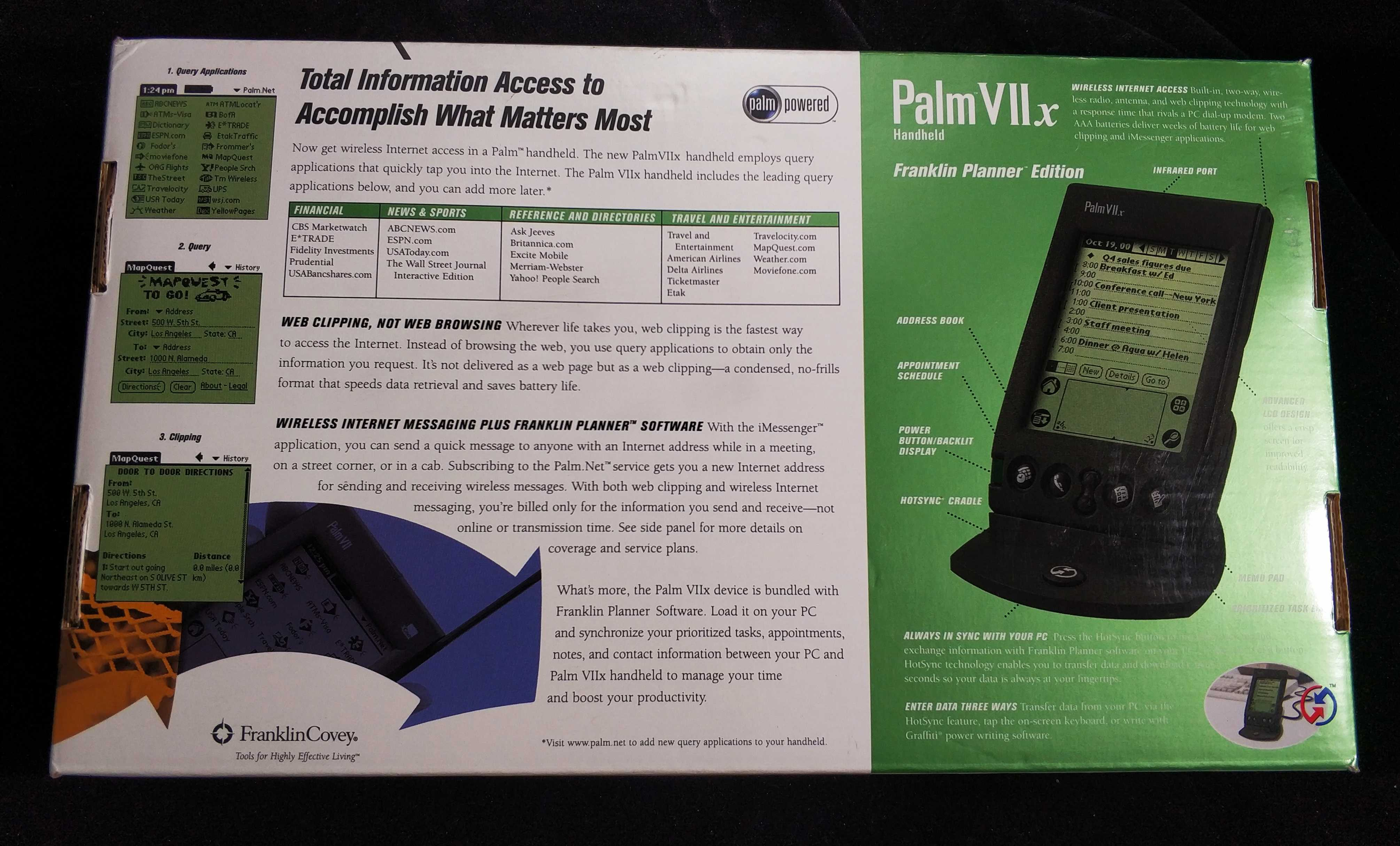 PDA 版掌上电脑 Covey Franklin VIIx Palm 全新全套