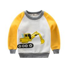 宝宝春秋款童装新款秋季韩版男童加绒卫衣长袖衫女童上衣儿童T恤