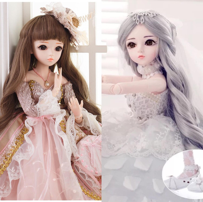 正品芭比60厘米改妆bjd女孩玩具公主全套KD关节多丽丝凯蒂娃娃