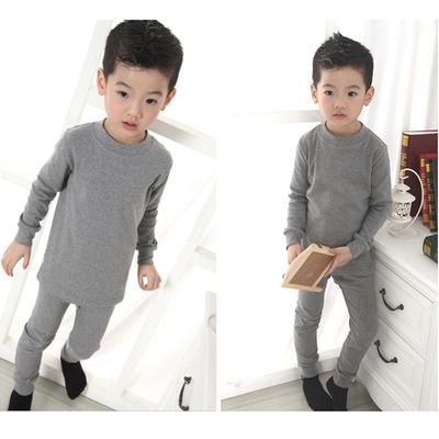 诺诺童装秋冬保暖内衣套装儿童纯棉中厚款不加绒贴身舒适保暖打底