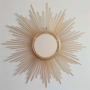 个性家居欧式创意铁艺客厅壁挂装饰镜太阳墙饰挂件背景墙壁饰包邮