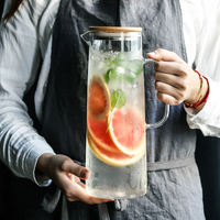 Nordic cold water bottle home water glass pot lemon juice pot cold water bottle cold water water set tie pot
