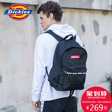 Dickies Spring and Summer New Alphabet Printed Large Capacity Dual Shoulder Bag Leisure Pure Color Backpack 184G90EC31