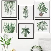 墙贴热带绿植叶子卧室文艺温馨浪漫宿舍简约北欧墙壁装饰贴纸清新