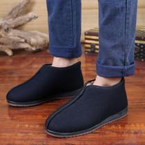大码冬季男士高帮棉皮鞋爸爸男鞋中老年老人加绒保暖真皮头层牛皮