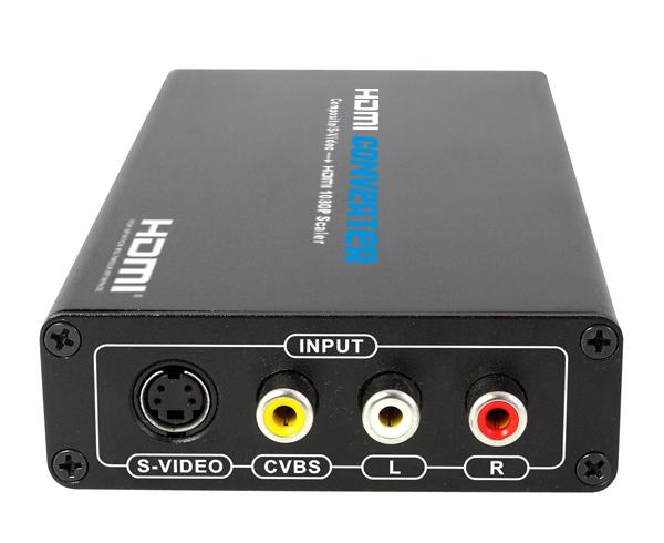 AV转HDMI转换器CVBS高清电视盒S端子转HDMI转换线朗强LKV363