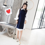 Pregnant women long vest sweater vest with Korean version of Yummy pregnant women dress autumn clothes
