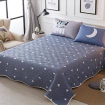 水晶绒床盖三件套夹棉床单加厚防滑单珊毛毯盖毯子秋冬季保暖