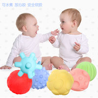 Baby hand catching ball tactile perception ball toy 3 baby sense training class puzzle soft rubber touch touch massage ball
