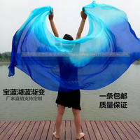 New belly dance gauze silk dance hand yarn performance practice hand throwing gauze gradient color colorful silk scarf