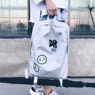 2019新款韩版原宿背包男女休闲简约双肩包潮流个性学生书包旅行包