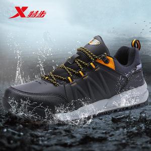 特步户外鞋登山鞋男新品舒适耐磨防滑徒步鞋