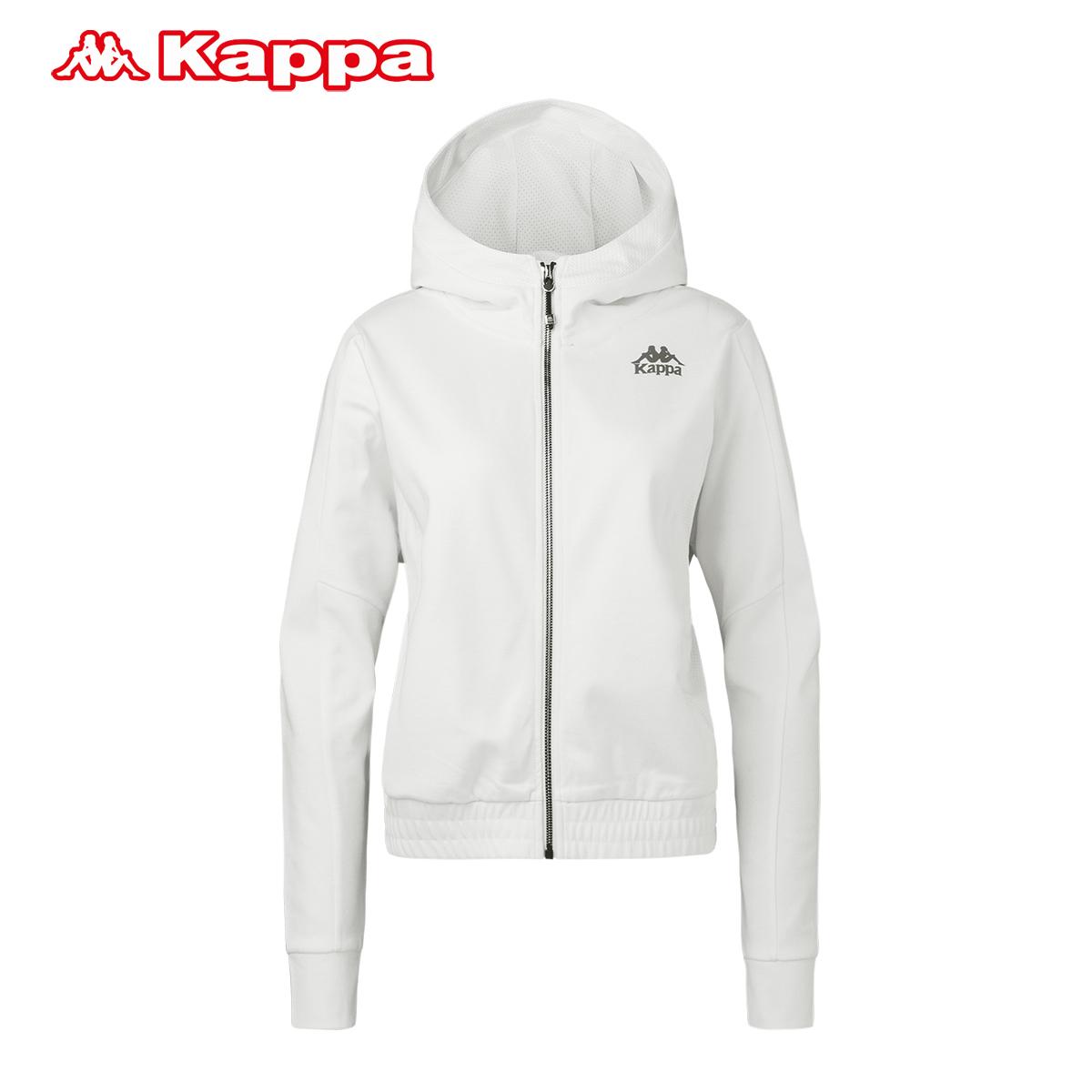 背靠背Kappa卡帕 女款连帽运动卫衣 休闲外套运动服秋季K0762MK02