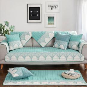 简约现代沙发垫客厅组合通用防滑实木坐垫子四季布艺皮沙发套巾罩