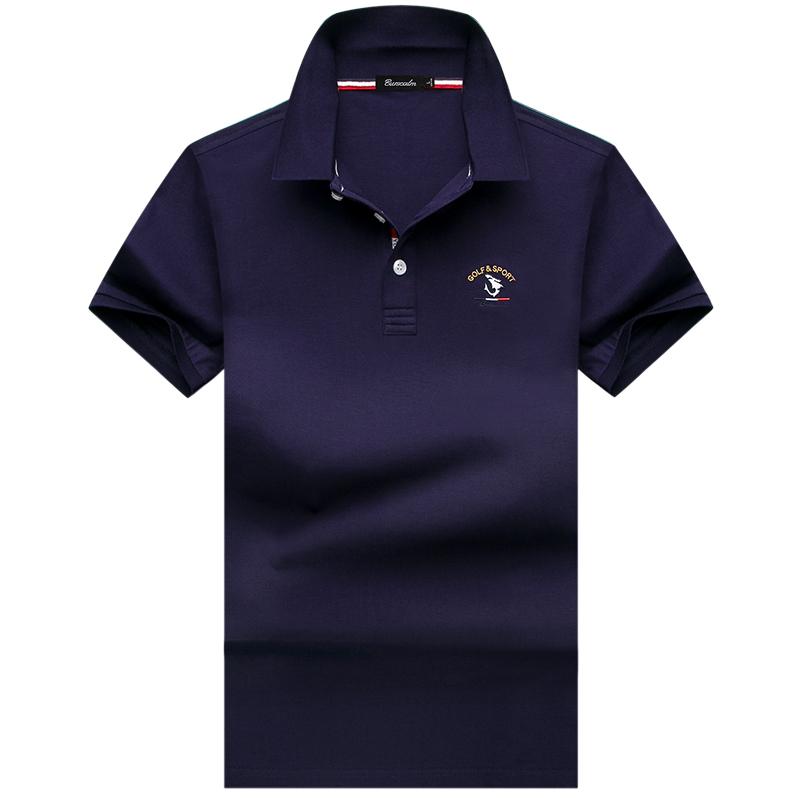 伯思凯新款短袖polo衫男士青年翻领t恤休闲 2018夏季纯色男装短T