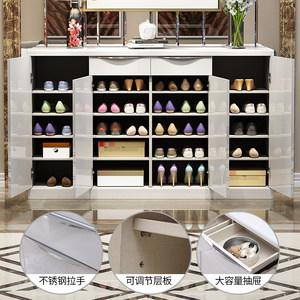 新柜尔 客厅玄关四门鞋柜 简约现代白色烤漆大容量 防尘门厅柜