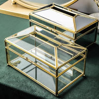 Life life Creative European light luxury mirror paper box home storage Nordic ins wind transparent glass tissue box