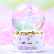 送男女友同学儿童创意可爱雪人宝宝旋转音乐盒八音盒