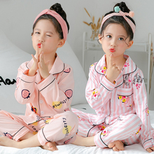 Children's pajamas, cotton long sleeves, thin princesses, girls, babies, air-conditioned household suits in spring, autumn and summer
