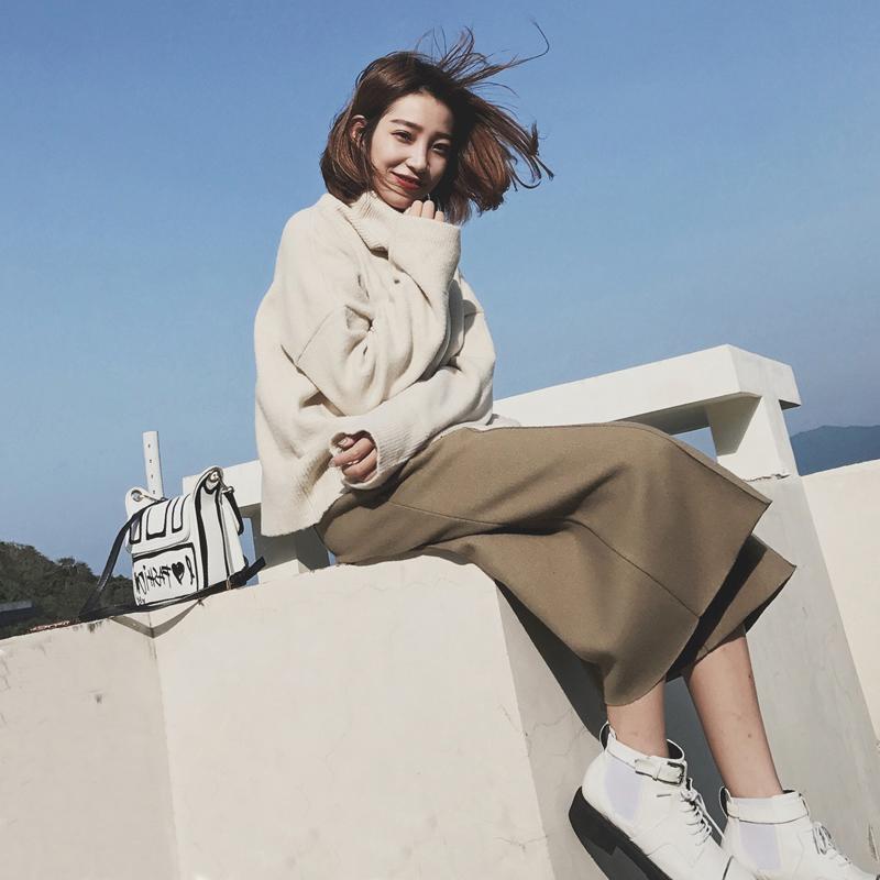 【先领券】秋冬季港味毛衣配阔腿裤子两件套气质社会女软妹套装女冬装时尚潮