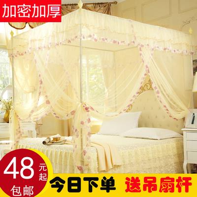 蚊帐1.2米1.5m床1.8m床双人家用通用加密加厚单门不锈钢欧式简约哪个牌子好