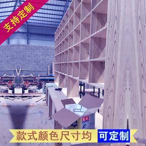 现代中式木单个书柜成人 简定做美式二门组合书橱书架 水曲柳2门