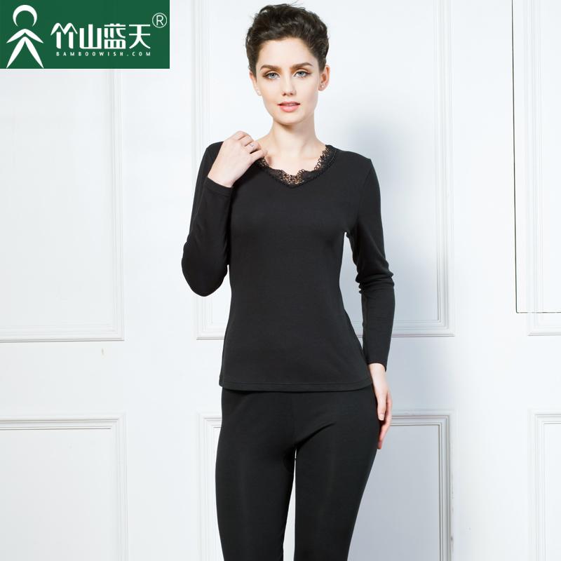 黑色蕾丝保暖衣