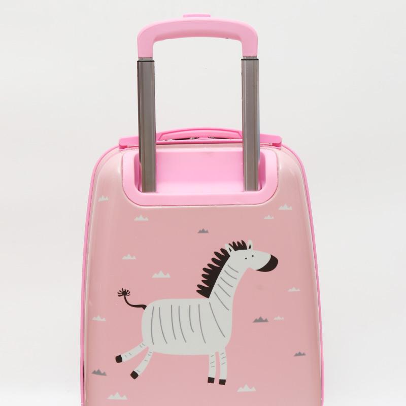 自然醒儿童行李箱卡通女拉杆箱万向轮可坐可骑宝宝旅行箱带娃18寸