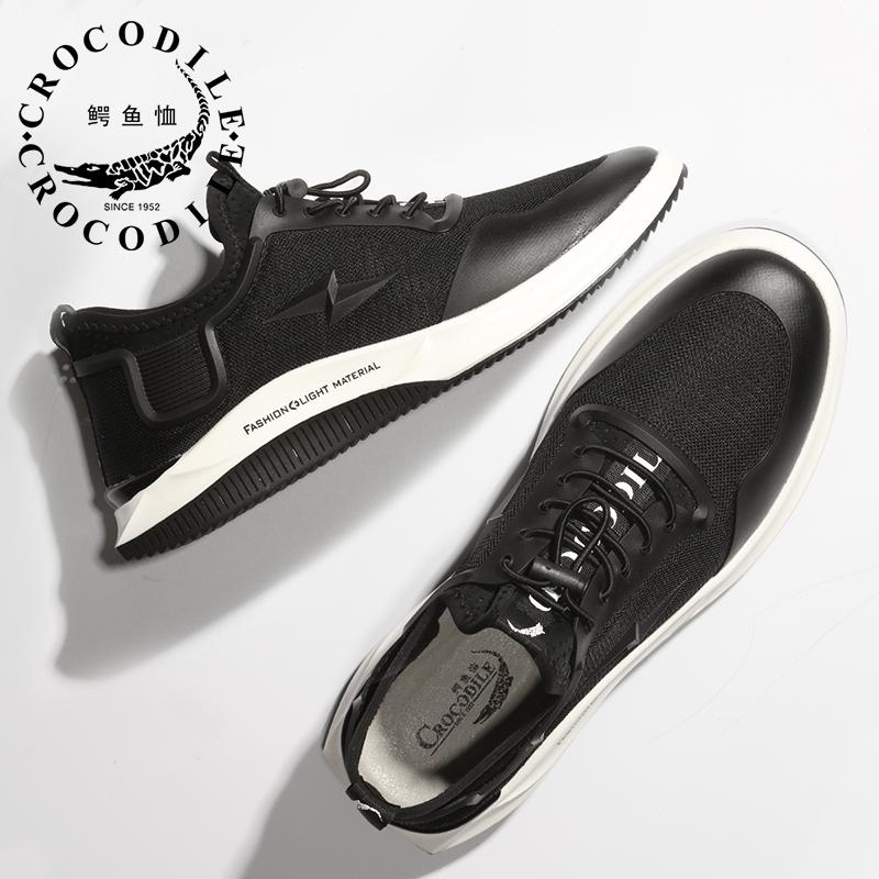 鳄鱼恤新款ins超火的鞋子运动休闲男鞋时尚网面舒适透气老爹鞋