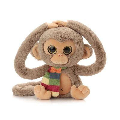 现货长臂围巾猴子毛绒玩具公仔娃娃华晨宇同款猴子