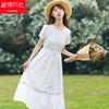 棉麻仙女连衣裙