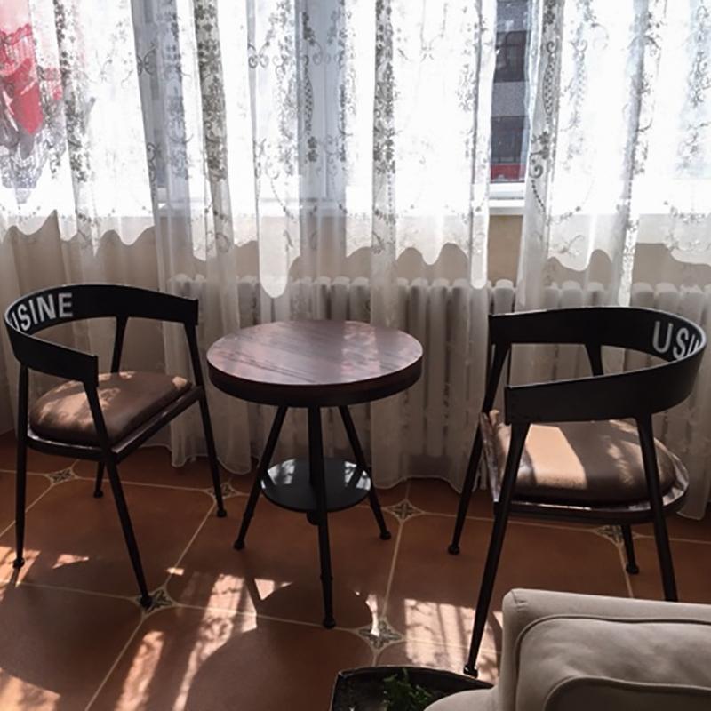 舒庭复古铁艺咖啡桌椅961