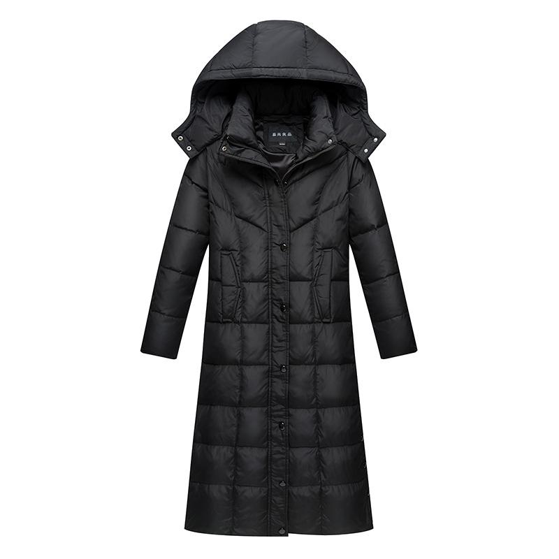 2018新款正品修身显瘦加长款羽绒服女超长过膝加厚大码冬装外套潮