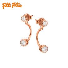 Folli Follie芙丽希腊简约轻奢S925银礼物女士耳环耳钉3E15S128